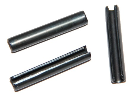DIN 1481 - pružné s mezerou, černěné