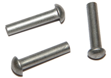 DIN 660 - půlkulatá hlava, hliníkové (Al)