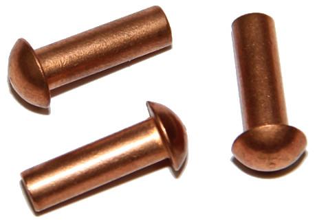 DIN 660 - půlkulatá hlava, měděné (Cu)