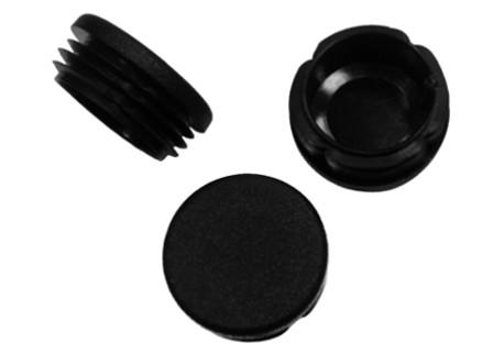 Záslepky kulaté na trubky - černé