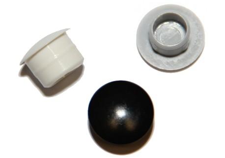 Záslepky kulaté do děr - bílé, šedé a černé