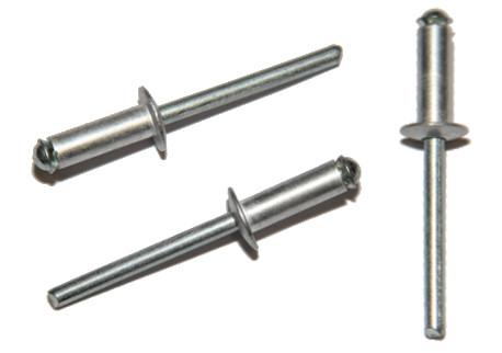 DIN 7337 - trhací, hliníkové (Al), zápustná hlava