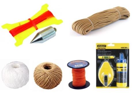 Provázky, lana, brnkačky, olovnice