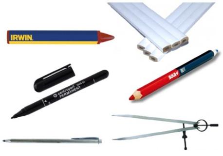 Popisovače, tužky, jehly, kružítka