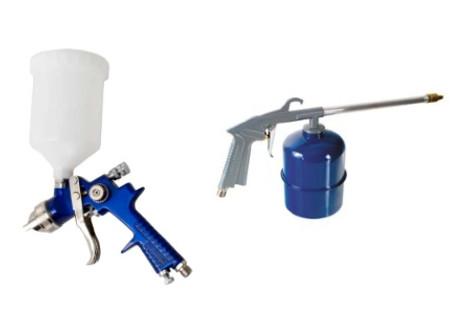Vzduchové pistole stříkací, mycí