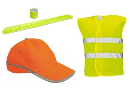 Reflexní vesty, čepice , prvky