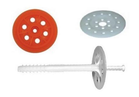 Hmoždinky a podložky talířové - pro izolační mat.